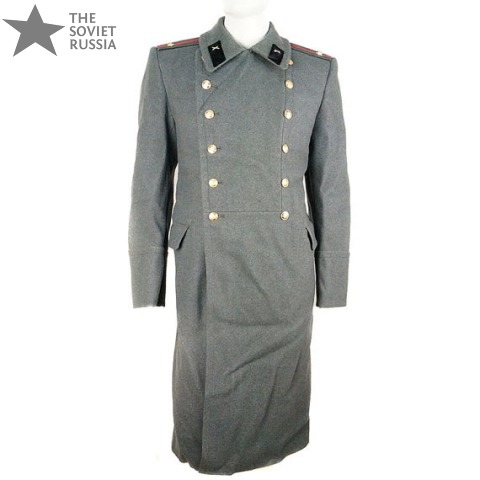 Soviet Army MIlitary Officer Long Trench Coat Overcoat
