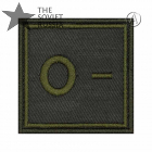 Blood Type Patch Olive Rhesus Factor