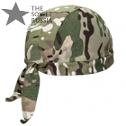 Multicam Camo Bandana Hat Skull Cap With Ties