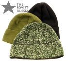Winter Military Beanie Hat Black, Olive OD, Digital Flora Camo - Bars