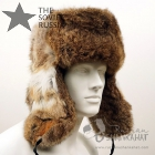 Russian Brown Rabbit Ushanka Fur Hat