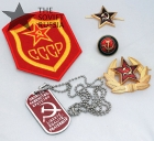 Russian Soviet Communist CCCP USSR Hammer and Sickle Badge Gift Set