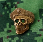 Russian military badge, skull in beret