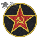 Red Star of the USSR Patch Sickle and Hammer