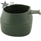 Plastic Folding Travel Pocket Mug Olive 250 ml