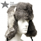 Russian Grey Rabbit Ushanka Fur Hat