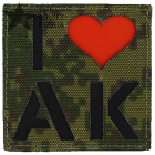 I Love AK patch