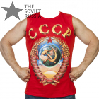 Red USSR Tank Top Mens