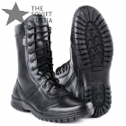 Russian Military Leather Boots Side Zipper Fast Put On