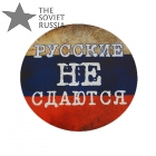 Russians Never Give Up Tricolor Flag Auto Sticker 20cm