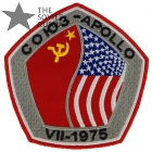 Soviet USA Soyuz Apollo Space Ships Patch Embroidered