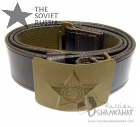 Russian Soviet Military Belt with Buckle