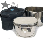 Compact Stainless Steel Bowl Pot 2.2L (74 oz) with Stove