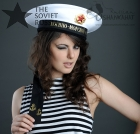 Russian Navy Sailor Uniform Visorless Hat with Bands White