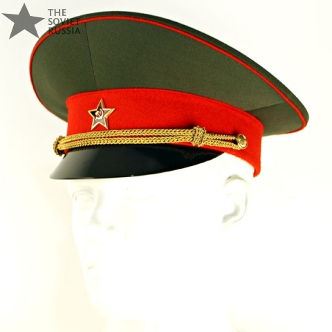 Visor Hat Peaked Cap Officer Uniform Russian Soviet Army Military 01c07c9991f