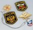 Russian Military Badge Patch Eagle Crest Dog Tag Gift Set